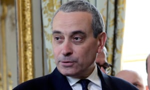Laurent Stefanini at the Elysée Palace in Paris  on Wednesday.