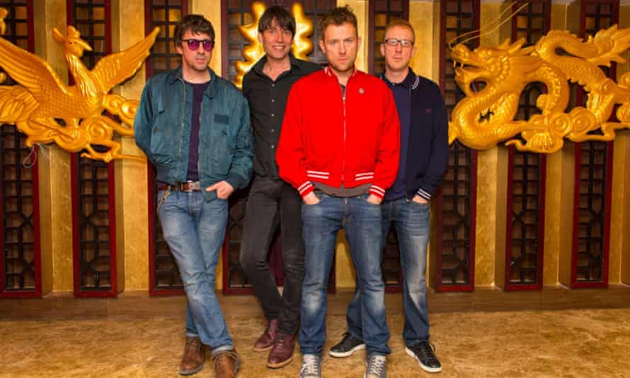 Blur, from left, Graham Coxon, Alex James, Damon Albarn and Dave Rowntree.
