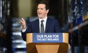 The UK chancellor George Osborne