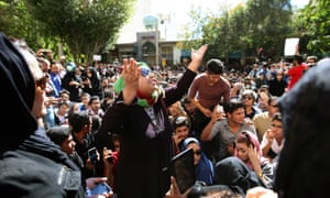 A protest in Isfahan last November to show solidarity with women injured in a series of acid attacks.