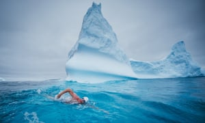 Well cool: Lewis Pugh in Antarctica.