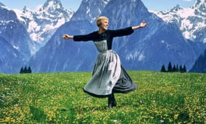 The hills are alive: Julie Andrews.