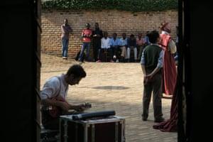 Audience in Butare, Rwanda