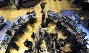 Traders on the floor of the New York Stock Exchange on 6 May 2010, when the Dow Jones index dived 700 points within minutes.