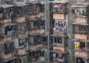 Apartments in Dharavi, one of Asia's largest slums