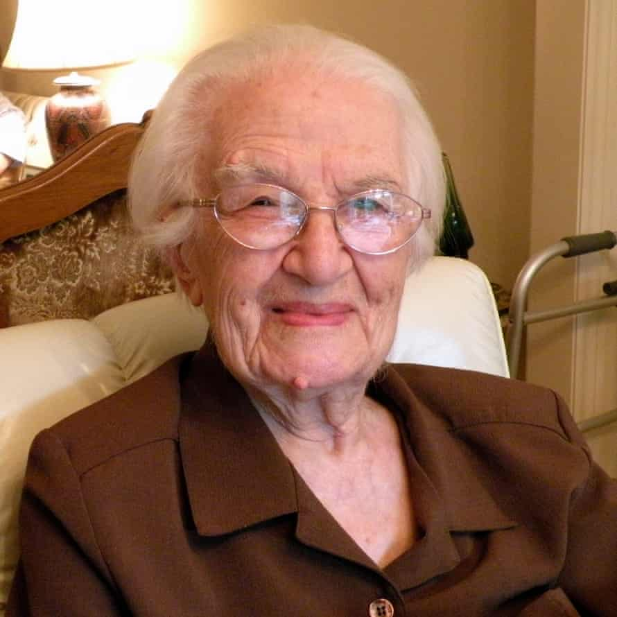 Sirvard Kurdian on her 102nd birthday.