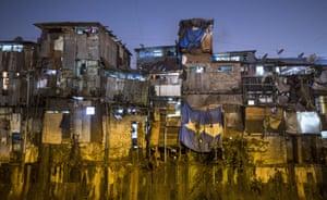 Shanties in Dharavi slum