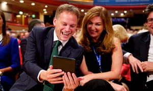 Tory party co-chairman Grant Shapps with Karren Brady