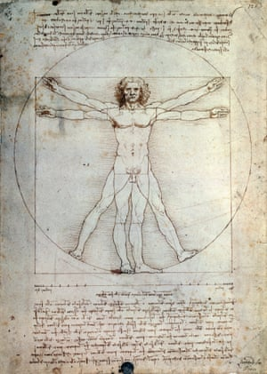 Vitruvian Man, 1490, by Leonardo da Vinci (1452-1519)