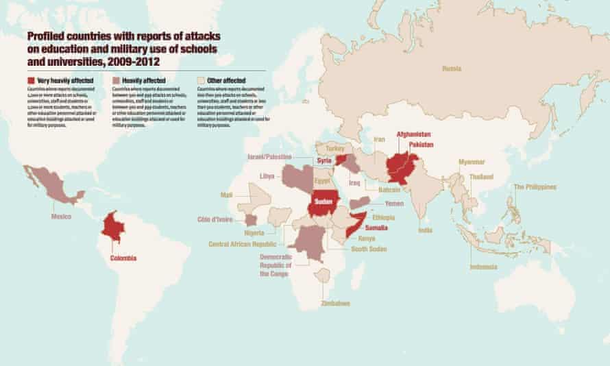 Map of school attacks