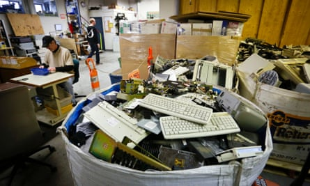 discarded computer parts
