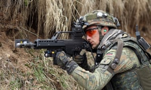 Soldier with Heckler & Koch G36