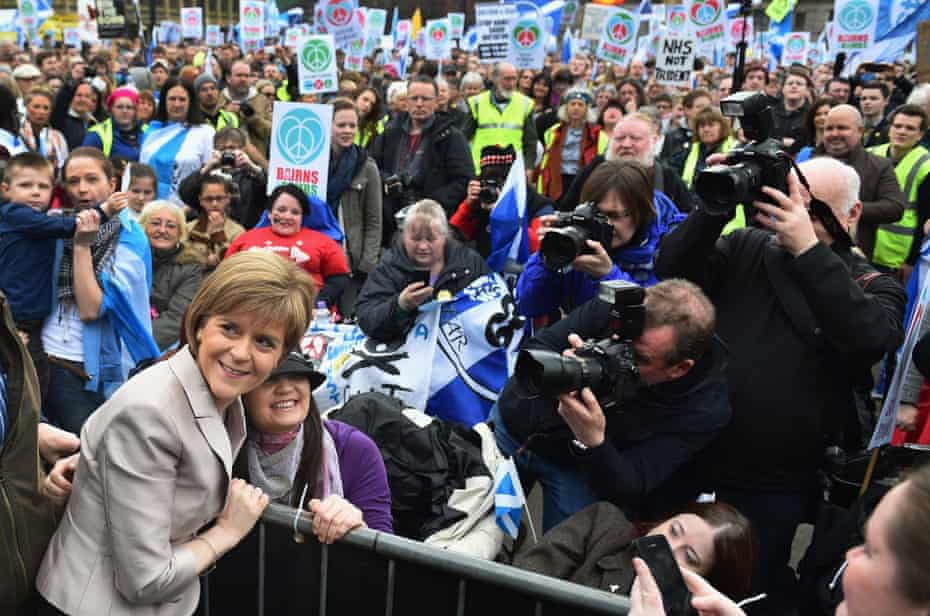 Sturgeon addresses the annual CND Scotland Scrap Trident rally in George Square in Glasgow