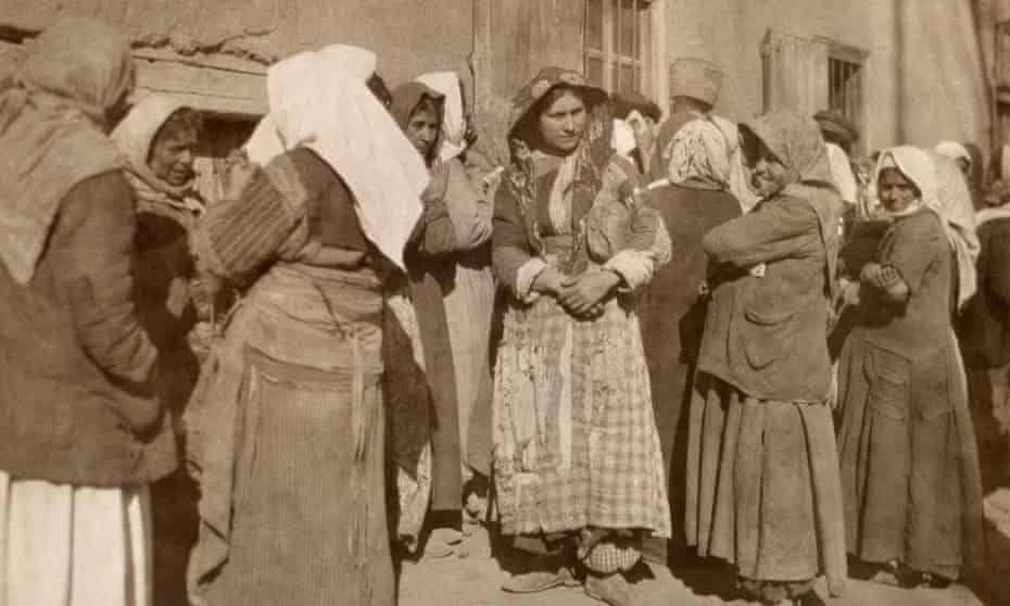 Survivors of the Armenian genocide, in 1919.