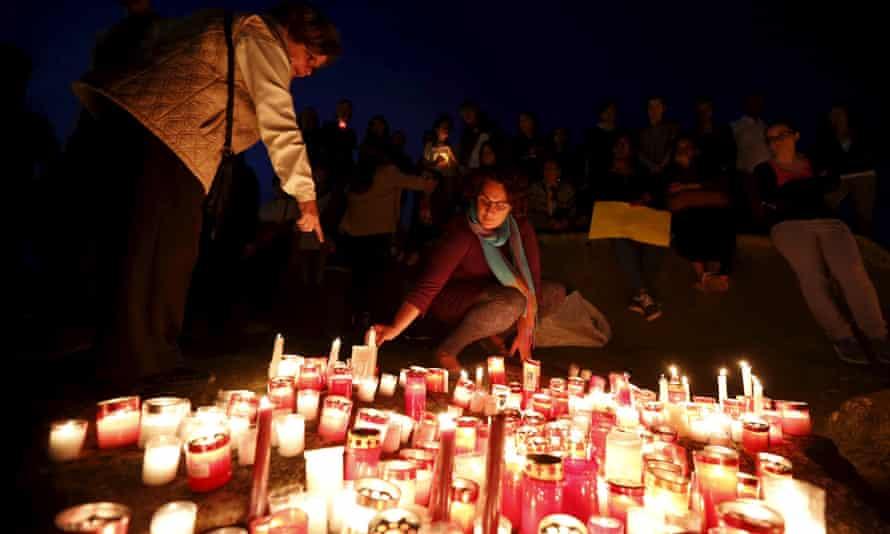 Vigil to commemorate migrants who died at sea in Sliema, outside Valletta.