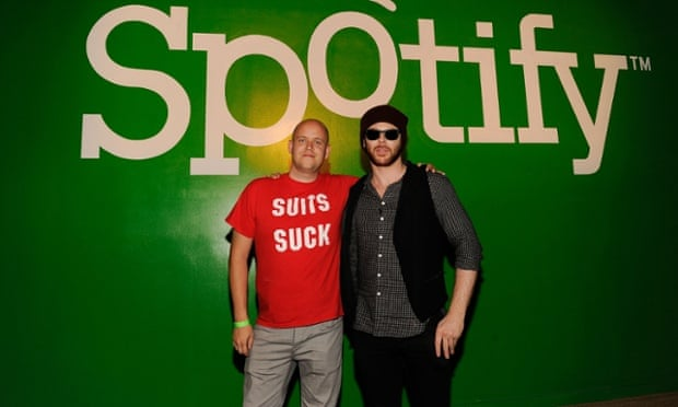 Spotify CEO Daniel Ek (32) and investor Sean Parker (35) are a few years off musical midlife crises – in theory