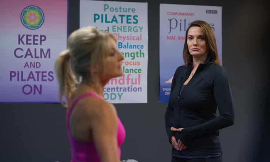 Pilates? Brilliant… Anna Rampton (Sarah Parish – right).