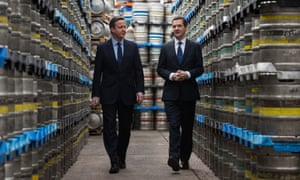 David Cameron and George Osborne visit the Marston's Brewery in Wolverhampton.