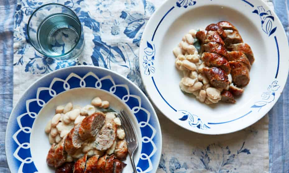 cannellini beans with sage and sausages
