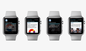 Guardian Moments on Apple Watch showing top stories
