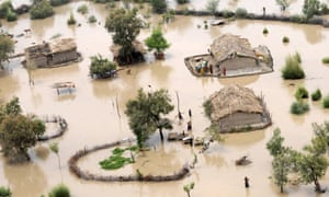 Residents in a flood-affected area on the outskirts of Sukkur. South Asia is the world's most climate-vulnerable region, its fast-growing populations badly exposed to flood, drought, storms and sea-level rise, according to a survey of 170 nations published in 2010. UN scientists have delivered their darkest report yet on the impacts of climate change, pointing to a future stalked by floods, drought, conflict and economic damage if carbon emissions go untamed.