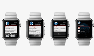 Guardian Moments on Apple Watch showing alerts