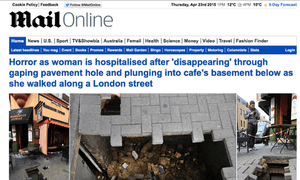 Mail Online's daily unique browsers fell below 14 million in March