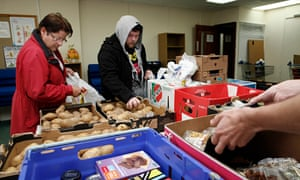 A food bank in Hull. Anti-poverty campaigners say use has grown almost 20% in the last year.