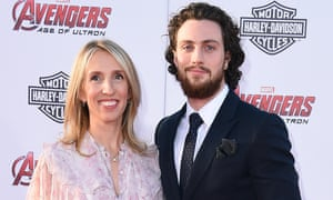 Sam and Aaron Taylor-Johnson at the LA premiere of Avengers: Age of Ultron.