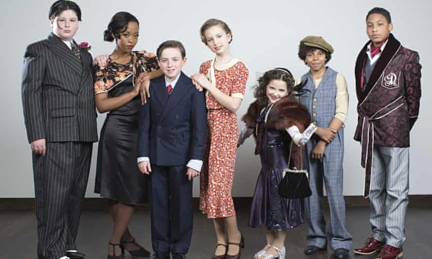 Cast of new 'Bugsy Malone' musical at the Lyric Theatre, London