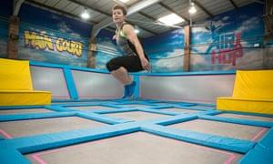 Rachel Dixon trampolining