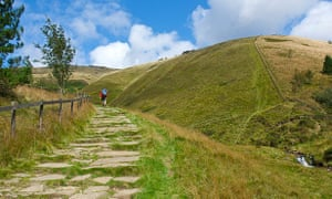 Jacob's Ladder, on the Pennine Way, near Edale, Peak National Park.