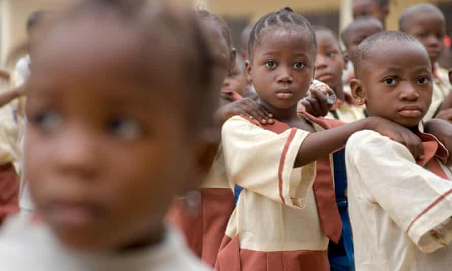Girl Primary school, Lagos Nigeria,  morning assembley