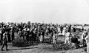 A concentration camp during the Boer war