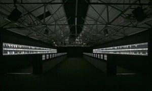 Ryoji Ikeda's installation, Supersymmetry