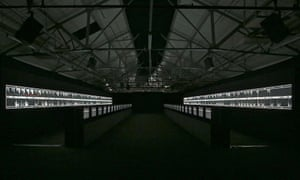 Ryoji Ikeda's installation, Supersymmetry
