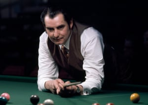 1973 Ray Reardon playing in the World Snooker Championship Final at the City Exhibition Hall in Manchester where he defeated Eddie Charlton 38-32