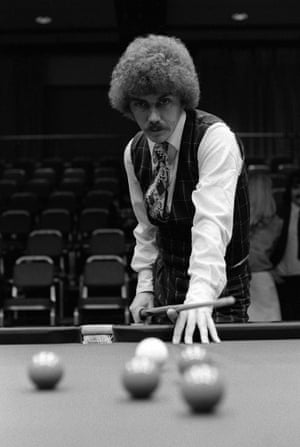 1975 Canada's Cliff Thorburn taking a shot at the table during the Benson and Hedges Masters
