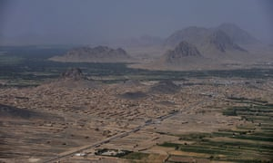 Aerial view over Arghandab Valley in Kandahar