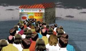 Food bank illustration by Nate Kitch