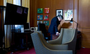 Gordon Brown takes the phone call from Nick Clegg after the 2010 election which meant the prime minister had to resign.
