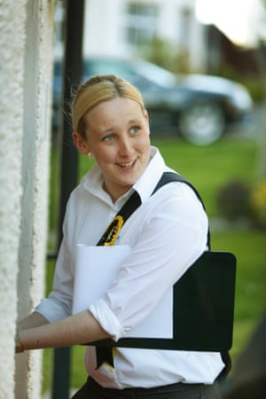 The SNP's candidate Mhairi Black campaigning in Paisley and Renfrewshire South.