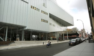 The building's entrance, with the start of the High Line at the far end.