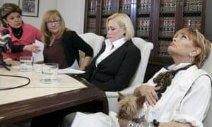 Attorney Gloria Allred, Janice Baker Kinney, Marcella Tate, and Autumn Burns