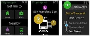 The Citymapper Apple Watch app.