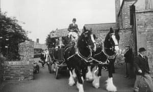 1983 Steve Davis is led Into Parkstone Working Men's Club in Coventry by the dray horses