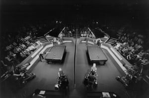 1985 A general view of the play at the Embassy World Snooker Championship