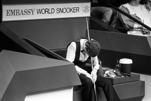 1985 A downcast Steve Davis after his defeat against Dennis Taylor in the greatest final of the history of the game