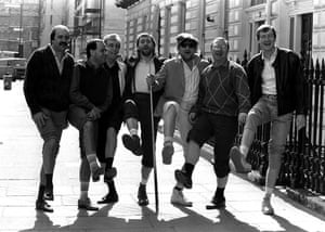 1986 Pop Stars Chas 'n' Dave are right on cue for a knees up with the Matchroom Mob as they announce the release of their song 'Snooker Loopy'. The Matchroom Mob are, from left, Willie Thorne, Tony Meo, Terry Griffiths, Dennis Taylor and Steve Davis. The song reached no 6 in the charts