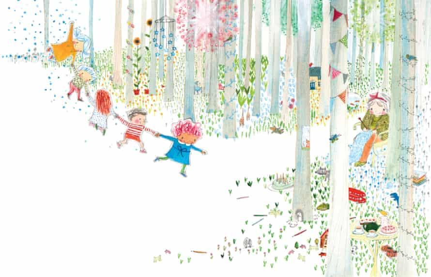 Rebecca Cobb's illustration for The Paper Dolls.